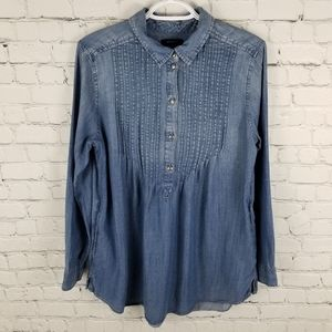 AMERICAN EAGLE | jegging fit chambray loose shirt